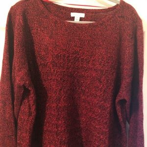 Croft and Barrow red and black marked sweater